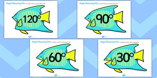 Angle Measuring Fish - angle measuring, angle eater,  measuring angles, angles, measuring, angles on fish, measuring on fish