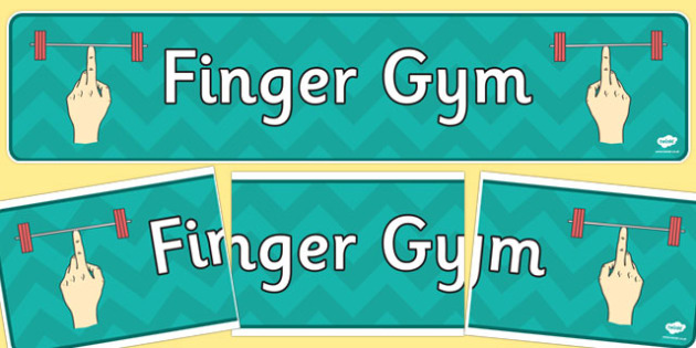 Finger Gym Display Banner - finger gym, display banner, display