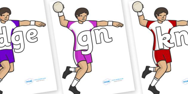 Silent Letters on Handball - Silent Letters, silent letter, letter blend, consonant, consonants, digraph, trigraph, A-Z letters, literacy, alphabet, letters, alternative sounds