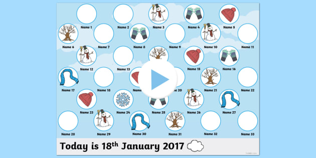 Winter Self Reg PowerPoint - winter, self registration, self reg, daily routine, pupil registration, powerpoint, self reg powerpoint, seasona, winter themed