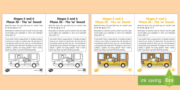 Northern Ireland Linguistic Phonics Stage 5 and 6 Phase 3b, 'ee' Sound Activity Sheet - Linguistic Phonics, Phase 3b, 'ee' sound, investigation, sound search, Northern Ireland, worksheet