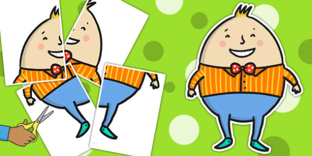 A2 Humpty Dumpty - nursery ryhmes, visuals, poster, posters