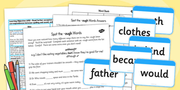 LKS2 Read Further Exception Words Lesson Ideas and Resource Pack
