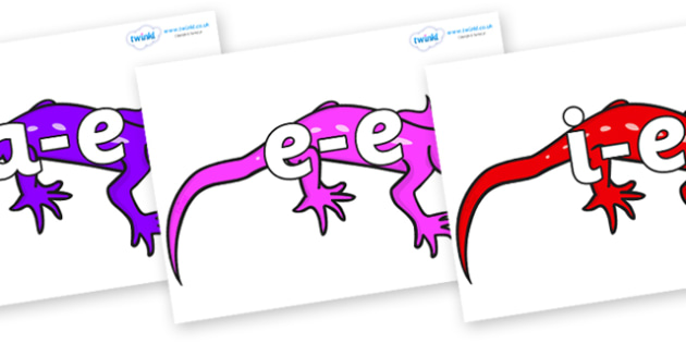 Modifying E Letters on Geckos - Modifying E, letters, modify, Phase 5, Phase five, alternative spellings for phonemes, DfES letters and Sounds