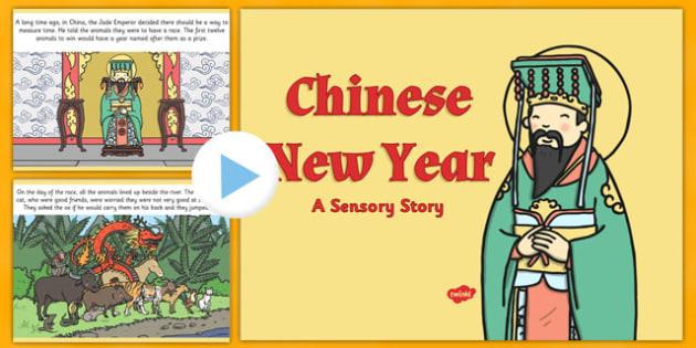 Chinese New Year Sensory Story PowerPoint - chinese new year, sensory story, powerpoint