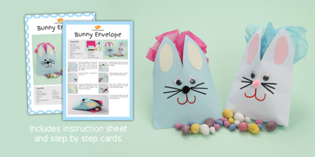 Bunny Envelope Craft Instructions - bunny envelope, craft, bunny