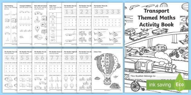 Transport Themed KS1 Maths Activity Book - numeracy, activities