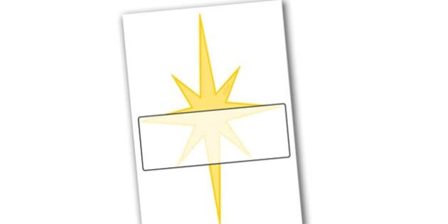 Christmas A4 Star Editable  - christmas, star, display, editable