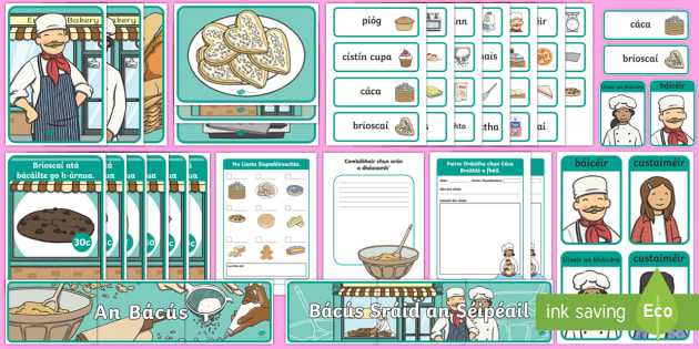 Aistear Pack The Bakery Gaeilge Display Pack-Irish