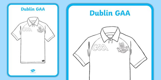 Dublin GAA Jersey Art A2 Display Poster-Irish