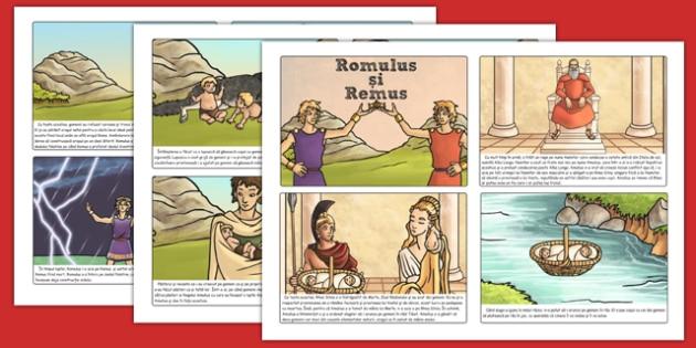 Povestea lui Romulus și Remus - Cartonașe - Romului, Remus, poveste, romani, Roma, antichitate, cartonașe, istorie, materiale, materiale didactice, română, romana, material, material didactic