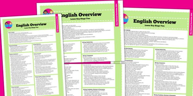 2014 Curriculum LKS2 English Overview - new curriculum, literacy