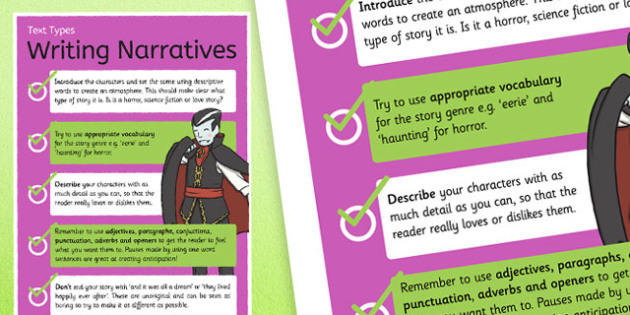 Text Types Guide Narrative Story Display Poster - narrative poster, writing a narrative poster, narrative display poster, how to write a story, narratives