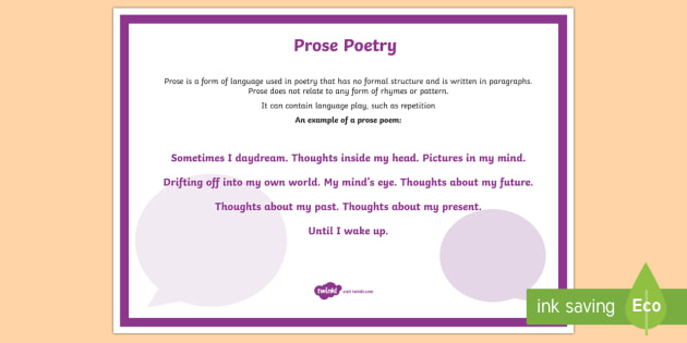 Prose Poetry A4 Display Poster-Australia - Literacy, Interpreting, analysing, evaluating, english, poetry, writing, poems, poetry, prose, gloss