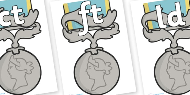 Final Letter Blends on Medals - Final Letters, final letter, letter blend, letter blends, consonant, consonants, digraph, trigraph, literacy, alphabet, letters, foundation stage literacy