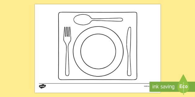 Doodle Draft Place Setting Activity Sheet-Irish