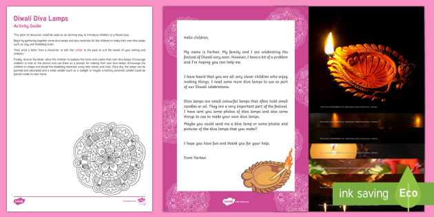Editable Making Diwali Diva Lamps Letter Resource Pack - EYFS, Early Years, Key Stage 1, KS1, topic starter, topic introduction, Wow activities, lesson obser