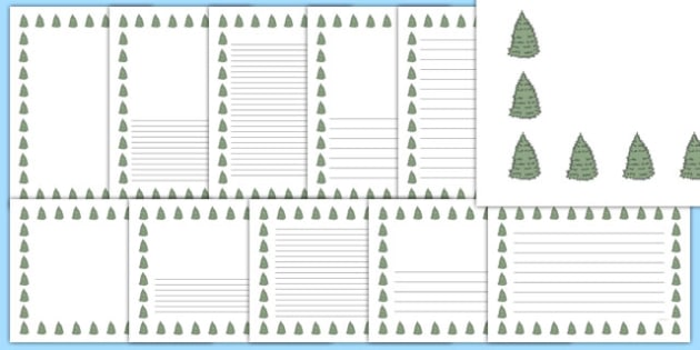 Spruce Tree Themed Page Borders - spruce tree, themed, page borders, pack, page, borders