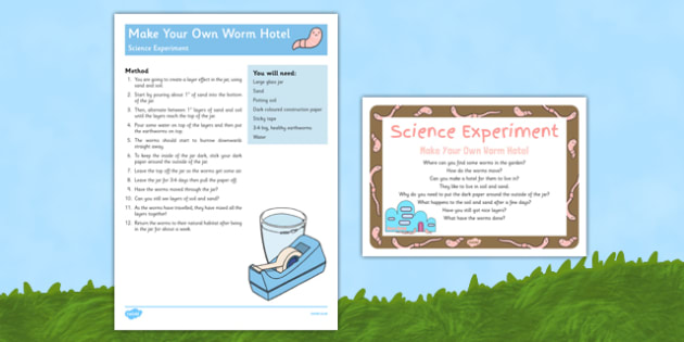 Make Your Own Worm Hotel Science Experiment - EYFS, Minibeasts, Creepy Crawlies, Bugs