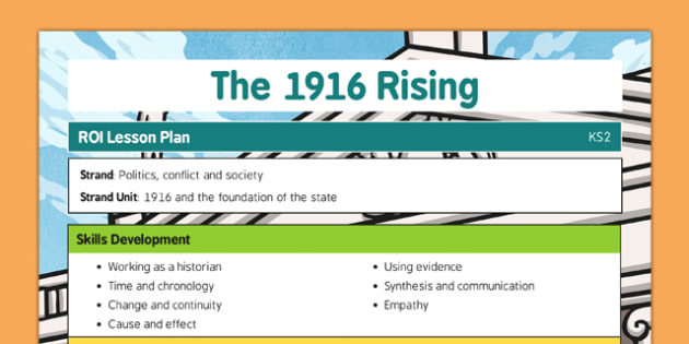 1916 Rising Lesson Plan and Ideas - Easter 1916 Rising, irish history, teacher ideas