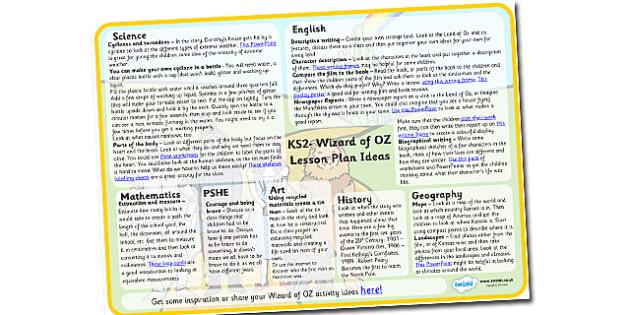 Wizard of OZ Lesson Plan Ideas KS2-wizard of oz, lesson plan, lesson ideas, lesson plan ideas, KS2 lesson plan, KS2 lesson ideas, KS2, lessons