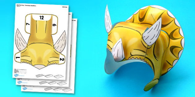 Triceratops Printable Role Play Headdress - triceratops, role-play