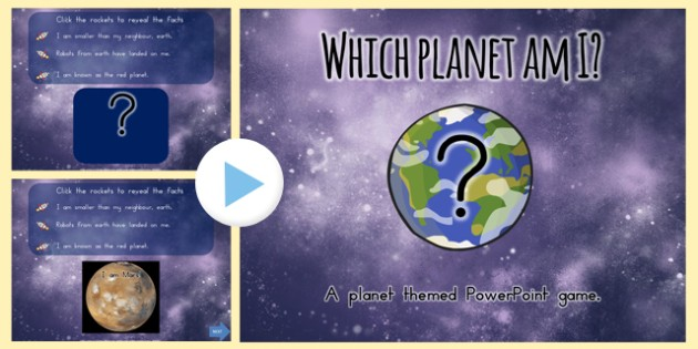 Which Planet Am I Interactive PowerPoint Game - australia, game