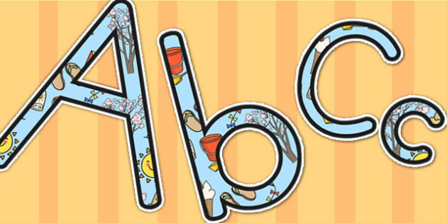Summer Themed A4 Display Lettering - summer, letters, display