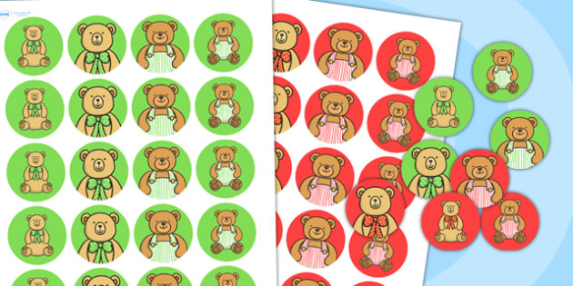 Teddy Bears Picnic Stickers - teddy, bears, sticker, rewards