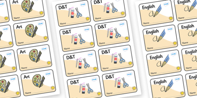 Sunshine Themed Editable Book Labels - Themed Book label, label, subject labels, exercise book, workbook labels, textbook labels