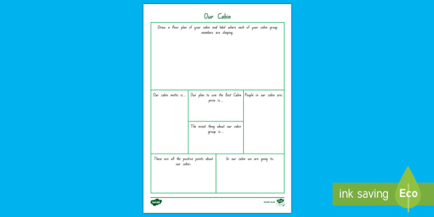 Camp Cabins Activity Sheet - New Zealand Back to School, Camp, camp sites, school camp, camp activities, back to school, end of s