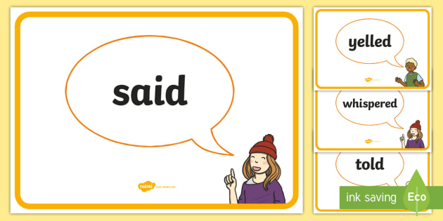 Alternative Words For Said Posters - literacy, word, said, poster