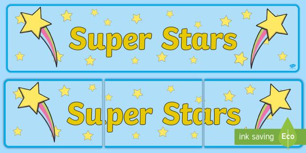 Super Stars Display Banner - super stars, display banner, display