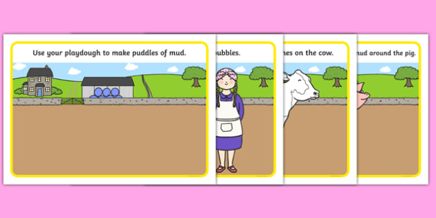 Washerwoman Playdough Mats - mrs wishy washy, washerwoman, playdough mats