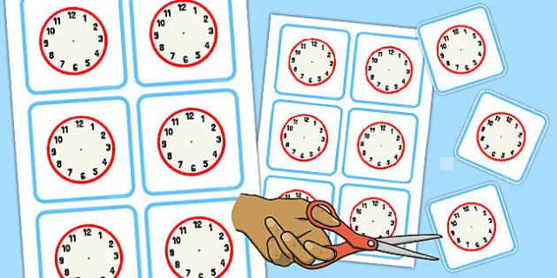 Blank Clock Faces - blank, clock, faces, time, blank clock, face