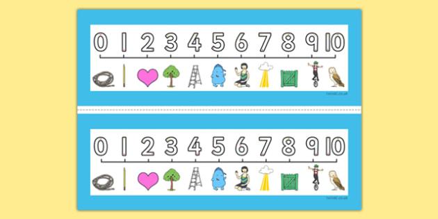 Number Formation SEN Number Line, overwriting