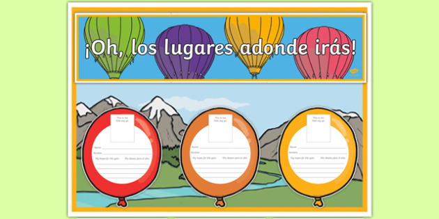 New Class Balloon Activity Display Pack Spanish Translation - spanish, Back to School, new start, new class, display, first day activity, welcome display, Dr. Seuss, balloons, transition