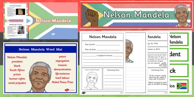 Nelson Mandela Resource Pack KS1 - nelson mandela, Nelson Mandela Day, pack, ks1