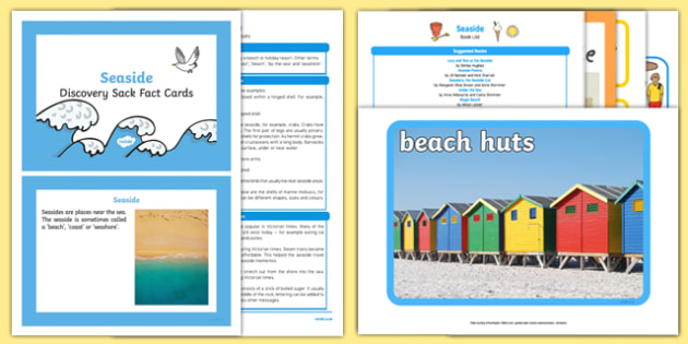 Seaside Discovery Sack - Early Years, KS1, beach, sea, summer, holidays, places