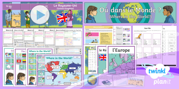 PlanIt -  French Year 4 - Where in the World? Unit Pack - french, languages, grammar, countries, animals, equator