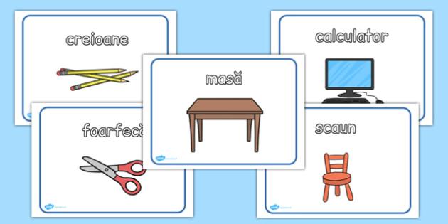 Obiectele din sala de clasă - Planșe