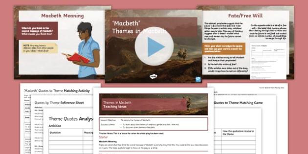 Macbeth Themes Resource Pack