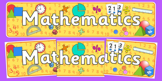 Mathematics Curriculum For Excellence Display Banner - maths