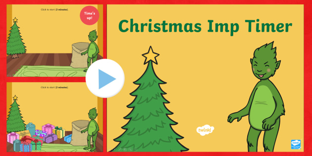 The Christmas Imp Christmas Present Timer PowerPoint - The Christmas Imp, the grinch, the grinch who stole christmas, christmas, green, imp, timer