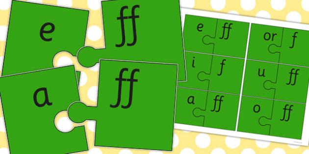 Vowel and Final 'F' Sound Jigsaw - final f, sound, vowel, jigsaw