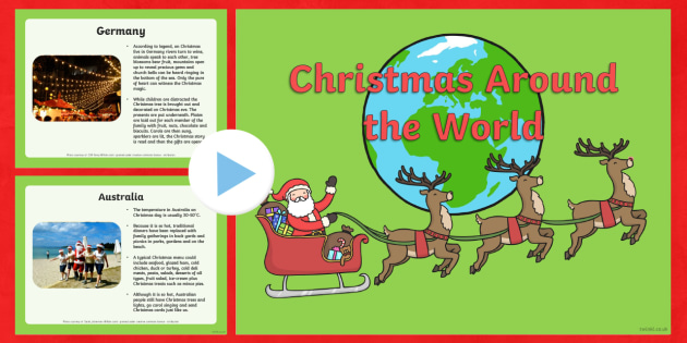Christmas All Over The World Information PowerPoint - christmas
