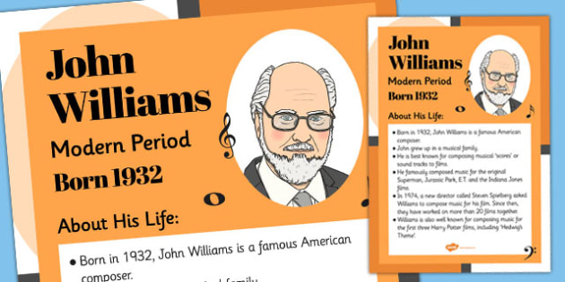 John Williams Display Poster - john williams, display, poster