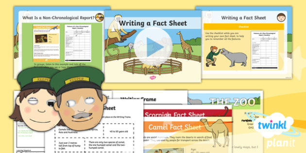 Dear Zoo: Non-Chronological Reports 2 Y1 Lesson Pack To Support Teaching on 'Dear Zoo' - Stories with repeating parts, mini topic, safari, whole class guided reading, minibeasts