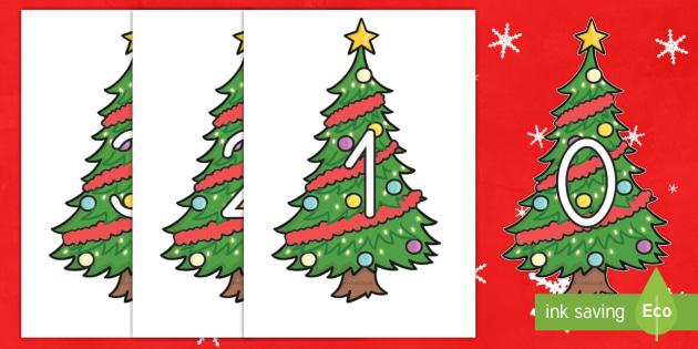 Números de exposición: Árboles de Navidad  - Spanish market translation suggestions EYFS, Spanish