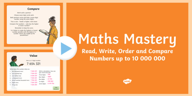 Year 6 Number and Place Value Read Write Order Compare Maths Mastery PowerPoint